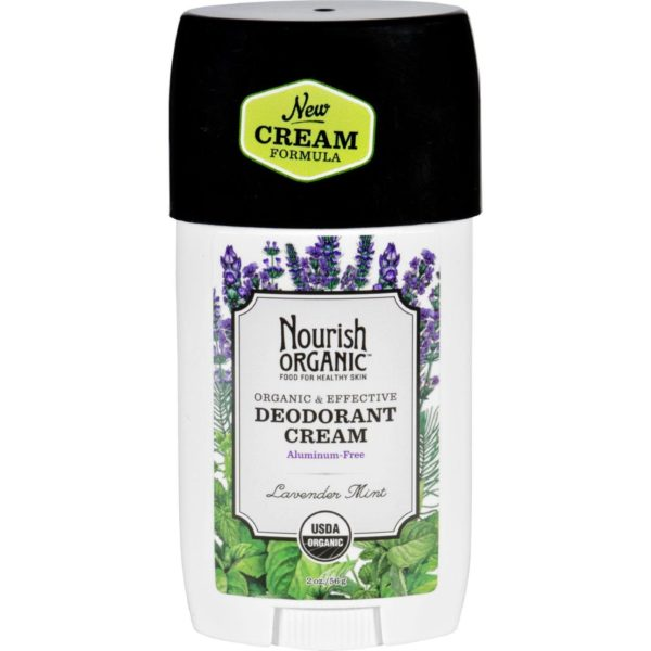 Nourish Deodorante Cream Lavender Mint 2 Oz