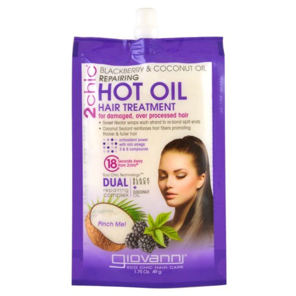Hot Oil Hair Treatment Repairing Blackberry and Coconut Oil1.75 Oz