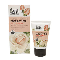Nourish Organic Face Lotion Argan+Rosewater 1.7 Oz