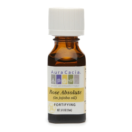 Aura Cacia Essential Oil Rose Absolute Fortifying .5Oz