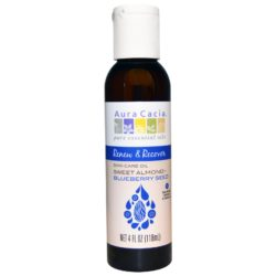 Aura Cacia Skin Care Oil Renew & Recover Sweet Almond+Blueberry Seed 4 Oz