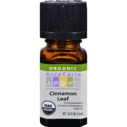 Essential Oil Organic Cinnamon Leaf .25 Oz