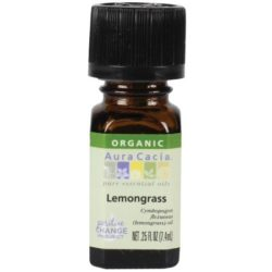 Essential Oil Organic Lemongrass .25 Oz